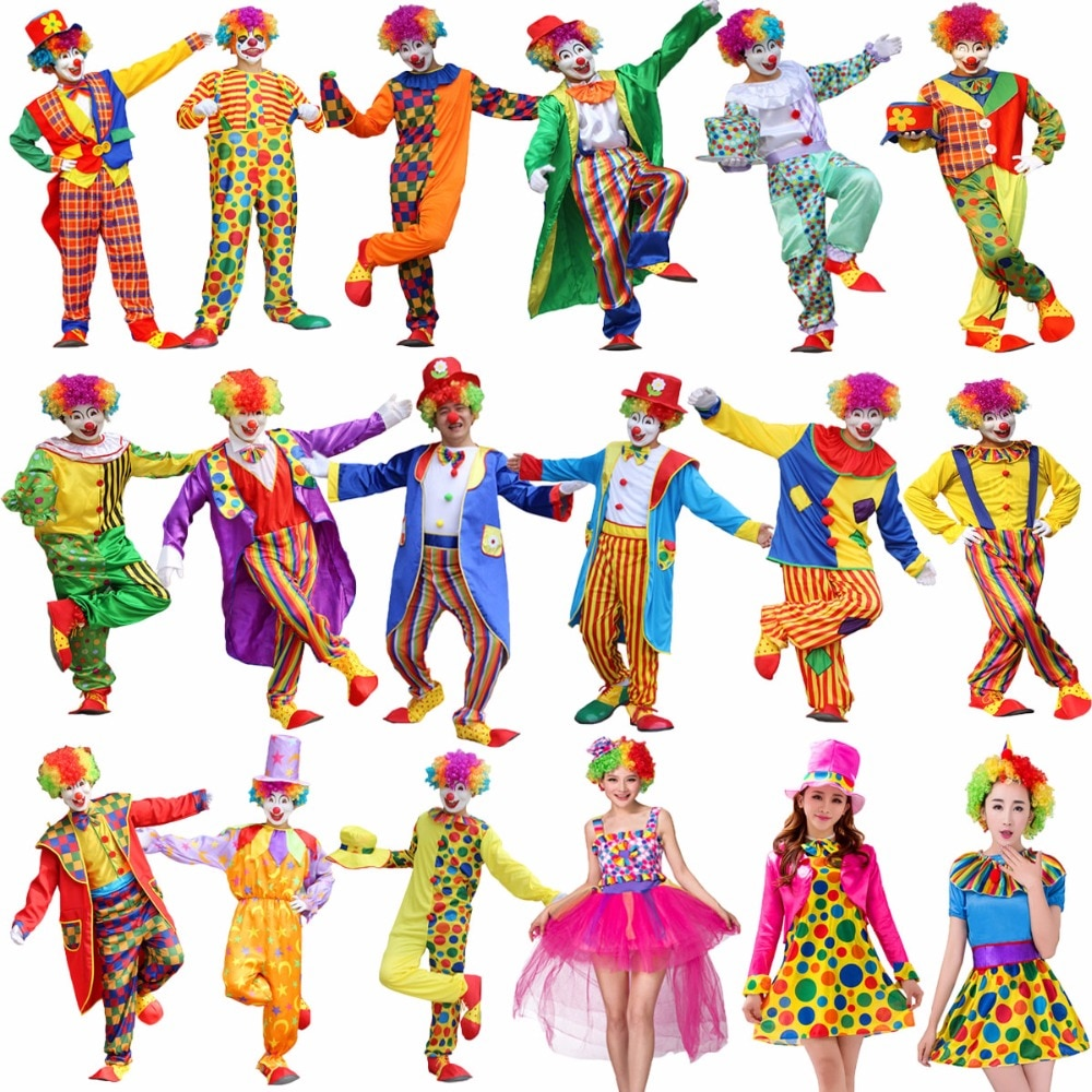 Naughty Harlequin Costume Clown  Halloween Fancy Dress Outfit