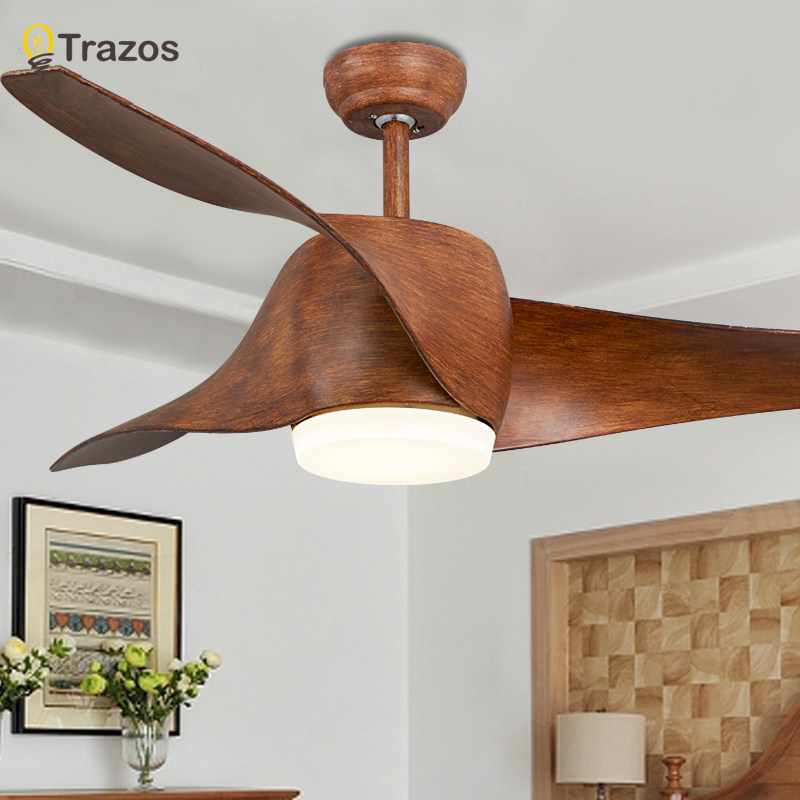 buy trazos brown vintage ceiling fan with lights remote cont